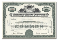 Paramount Pictures Corporation, Issued to Bache & Co.