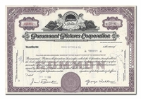 Paramount Pictures Corporation, Issued to Dean Witter & Company