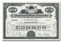 Paramount Pictures Corporation, Issued to Paine Webber, Jackson & Curtis