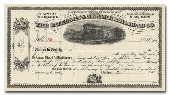 Paterson & Newark Rail Road Company