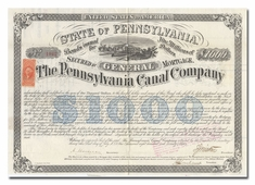Pennsylvania Canal Company (Signed by Civil War General Isaac Wistar)