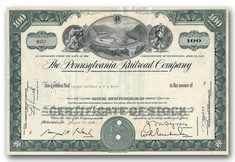 Pennsylvania Railroad Company, Issued to Tucker Anthony & R L Day