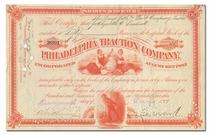 Philadelphia Traction Company, Signed by George Widener