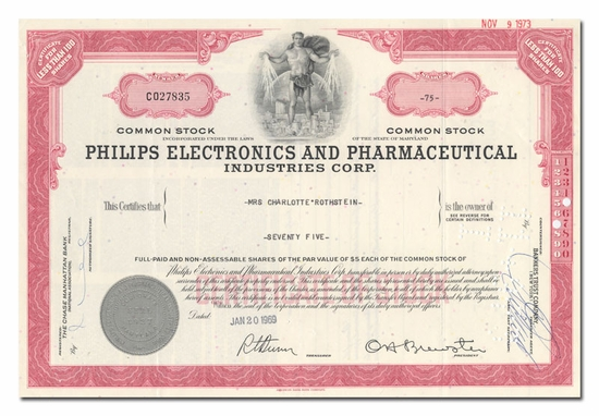 Philips Electronics and Pharmaceutical Industries Corporation