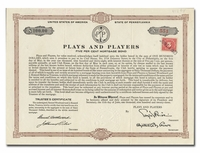Plays and Players (Famous Philadelphia Theatre Commpany)