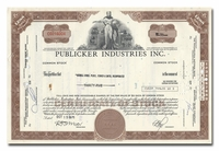 Publicker Industries Inc., Issued to Merrill Lynch, Pierce, Fenner & Smith