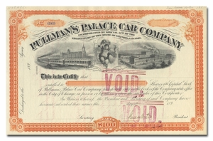 Pullman's Palace Car Company, Signed by Horace Porter