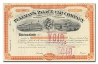 Pullman's Palace Car Company (Signed by Horace Porter)