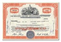 Reliance Electric and Engineering Company, Issued to Paine Webber, Jackson & Curtis