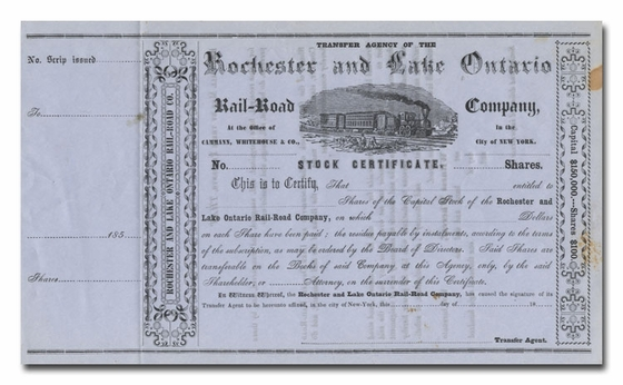 Rochester and Lake Ontario Rail-Road Company