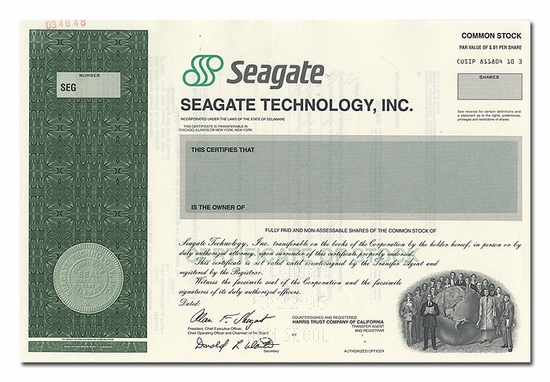 Seagate Technology, Inc. (Specimen)