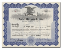 Song Hit Guild, Inc., Issued to Rudy Vallee