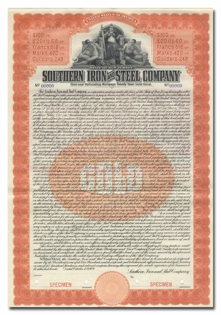 Southern Iron and Steel Company (Specimen)