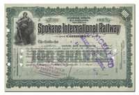 Spokane International Railway Company (Signed by Daniel Chase Corbin)