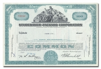 Studebaker-Packard Corporation, Issued to Bache & Co.