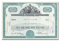 Studebaker-Packard Corporation, Issued to Merrill Lynch, Pierce, Fenner & Smith