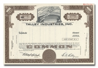 Talley Industries, Inc. (Specimen)