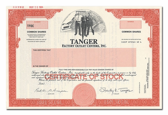 Tanger Factory Outlet Centers, Inc. (Specimen)