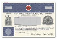 Titan Wheel International, Inc. (Specimen)