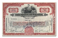 United Printers and Publishers Incorporated, Issued to Hornblower & Weeks
