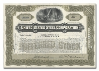 United States Steel Corporation, Issued to Tucker Anthony & Company