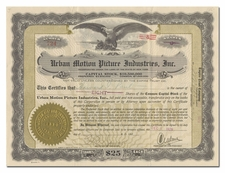 Urban Motion Picture Industries, Inc. (Signed by Charles Urban)