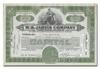 W. B. Jarvis Company (Ty Cobb's Business), Issued to Paine Webber