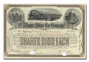 Wagner Palace Car Company, Signed By William Webb