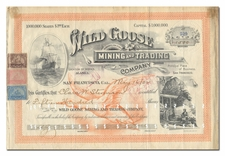 Wild Goose Mining and Trading Company (Nome, Alaska) - Signed by Charles D. Lane