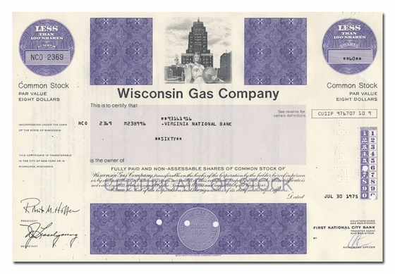 <br>Wisconsin Gas Company