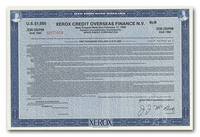 Xerox Credit Overseas Finance N.V. (Specimen)