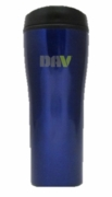 16 oz. Stainless Steel Metallic Blue Mug