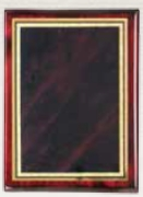 """9"""" x 12"""" Rosewood Piano Finish Plaque Engraved"""