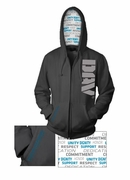 Charcoal Full Zip Hooded Sweatshirt