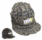Dusty Khaki/Navy Knit Hat
