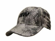 Grey Digital Camo Flex Fit Cap