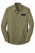 Khaki Roll Sleeve Twill Uniform Shirt