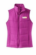 Ladies Berry Puffy Vest