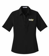 Ladies Black Stretch Polo