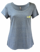 Ladies Denim Textured Scoop Neck T-Shirt
