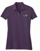 Ladies Eggplant Slub Polo