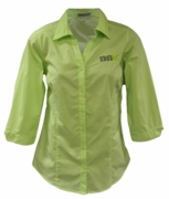 Ladies Light Green 3/4 Sleeve Blouse