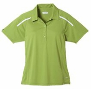 Ladies Moisture Wicking Green Polo