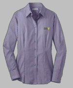 Ladies Purple Striped Oxford