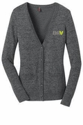 Ladies Warm Grey Cardigan Sweater