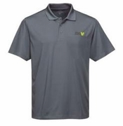 Men's Grey Moisture Wicking Polo