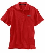 Men's Red Moisture Wicking Polo