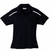 Ladies Moisture Wicking Black Polo