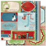 Blitzen Collection Blitzen Cut Outs Double-Sided 12 x 12 Scrapbook Paper by BoBunny