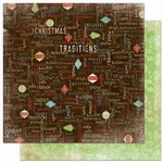 Blitzen Collection Blitzen Sentiment Double-Sided 12 x 12 Scrapbook Paper by BoBunny
